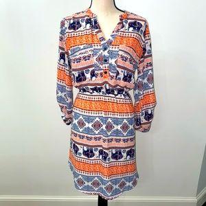 ⭐️2/$20 Beautiful Printed Dress. Size L.